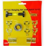 Picture Hanging Set Kit Complete with Spirit Level